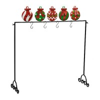 Holly Jolly Ornaments Stocking Holder