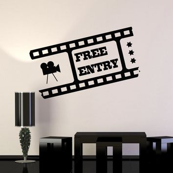 Vinyl Wall Decal Media Room Decor Filmstrip Cinema Movie Art Stickers Mural Unique Gift (ig5136)