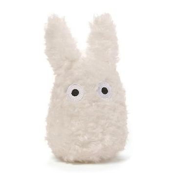 "Gund Studio Ghibli White Totoro Stuffed Toy 4.5"" plush - Intro Jan 2017"