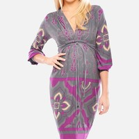 Olian Lila 3/4 Sleeve Dress