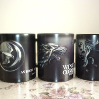 Drop shipping Game of Thrones mugs Stark Arryn Lannister Coffee Mug Color Changing Ceramic Cup  surprise gift