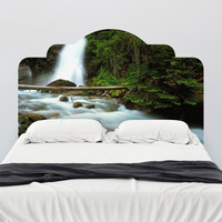 Paul Moore's Waterfall In Glacier National Park Headboard wall decal