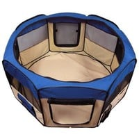 "Best Choice Products Pet Puppy Dog Playpen Exercise Pen Kennel 600d Oxford Cloth, 45"", Blue"