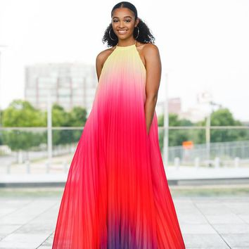 Ombre Multi Colored Maxi Dress