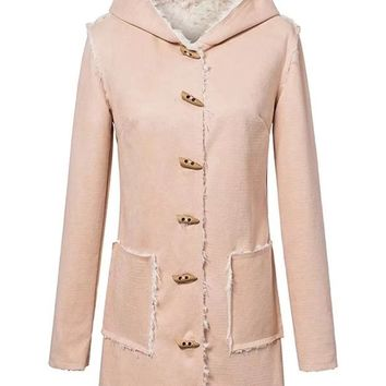 Faux Fur Lined Suede Duffle Coat
