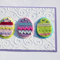 Easter Egg Card Embossed with Pastel Colors by RoyalRegards