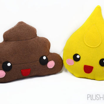 Happy poop drop pee kawaii plushie humor plush toy kawaii pillow cushion