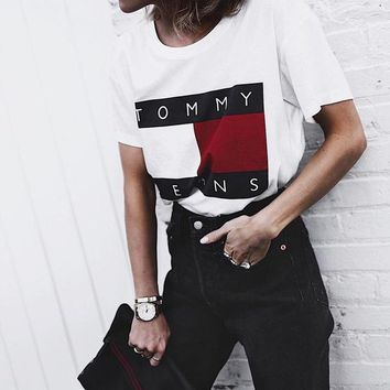 Tommy Hilfiger Tommy men and women T-shirt