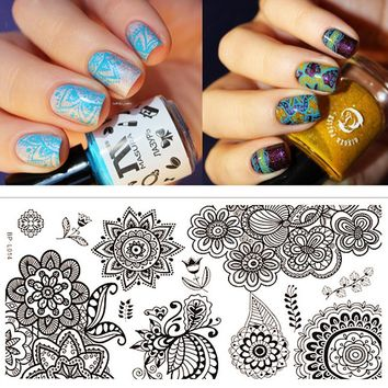 Chic Flower Nail Art Stamp Template Image Plate BP-L014 12.5 x 6.5cm