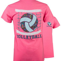 SALE Southern Couture Preppy Pattern Volleyball T-Shirt
