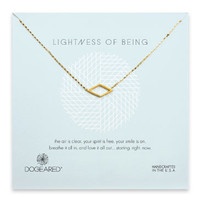 Dogeared Lightness of Being Air Diamond Soldered Necklace - Sterling Silver & Gold Dipped 18 inch