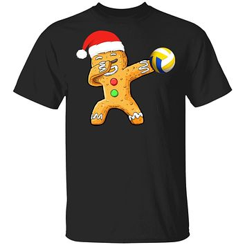 Dabbing Gingerbread Santa Volleyball Christmas Pajama Gifts