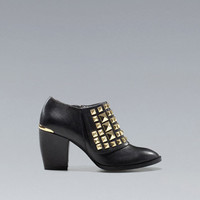 GOLD STUDDED ANKLE BOOT - Shoes - Woman - ZARA Germany