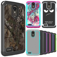 FORLG Stylo 3 / Stylo 3 Plus 2017 Case Hard Silicone Hybrid Shockproof Dual Layer Rugged Protective Phone Cover