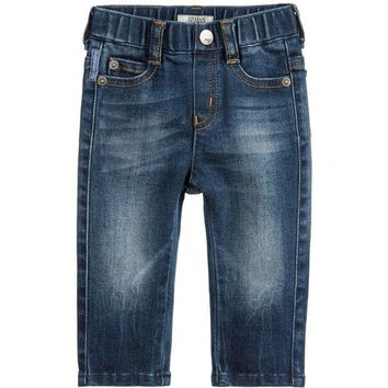 ONETOW Armani Baby Boys Blue Denim Jeans