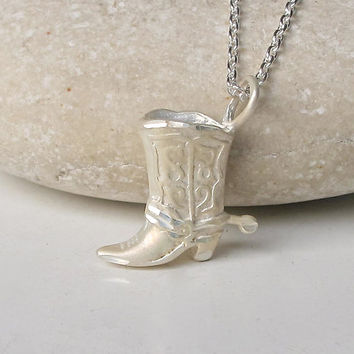 Cowboy Boot Necklace- Cowgirl Jewelry