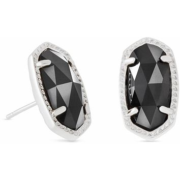 Kendra Scott: Ellie Silver Stud Earrings In Black