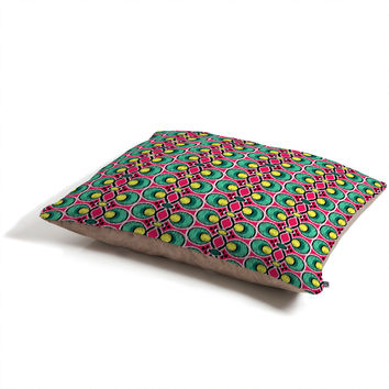 Raven Jumpo Ikat Lattice Magenta Pet Bed