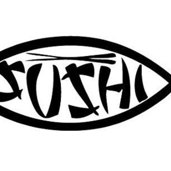 Sushi Fish  Vinyl Car/Laptop/Window/Wall Decal