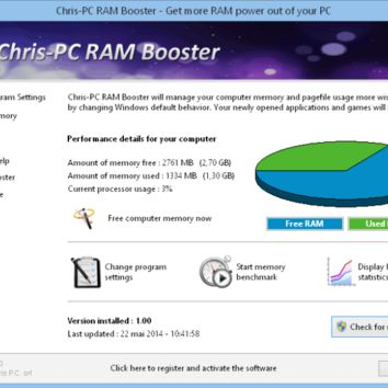 Chris-PC RAM Booster 3.50 Crack Serial key