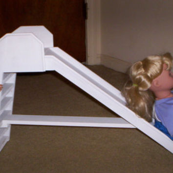 doll  sliding board  Handcrafted for American Girl 18 inch doll furniture