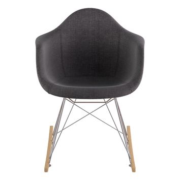 Mid Century Rocker Chair  Charcoal Gray