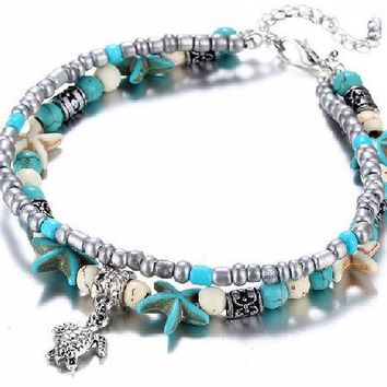 Starfish Or Turtle Anklet Bracelet