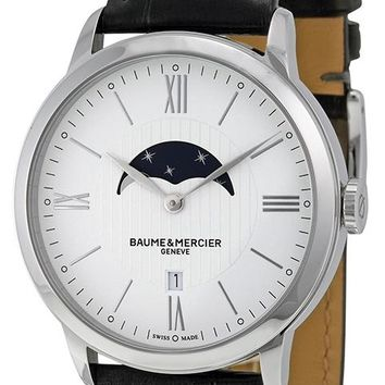 Baume and Mercier Classima Leather Automatic Watch MOA10219