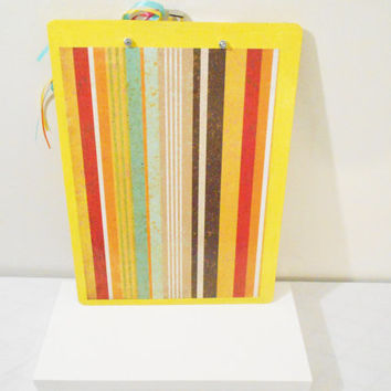 Handmade Birthday Cupcake or Country Glitter Decorative Clip Board in Red or Yellow-- Double Sided -- Choose 1