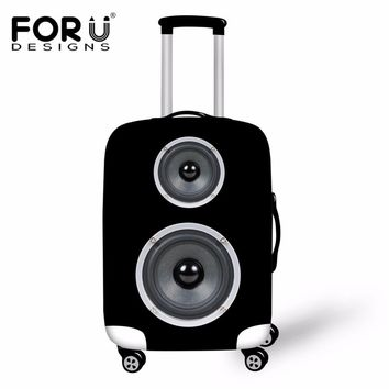 FORUDESIGNS Travel Accessories Thick Elastic Luggage Protective Covers for 18-30 Inch Suitcase Speaker Bass Print Cases Cover