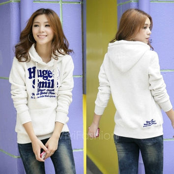 New Korean Thick Hooded Sweater Pullover Hoodie Jacket Women's Spring And Autumn VVF = 1931937412