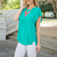 Casual Confidence Top, Jade