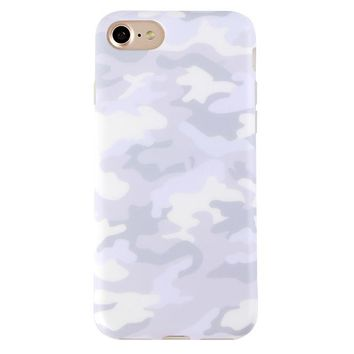 White Clouds Camo iPhone Case