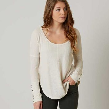 LUCKY BRAND RAW EDGE THERMAL TOP
