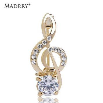 ONETOW Alloy Metal Music Note Design Brooches