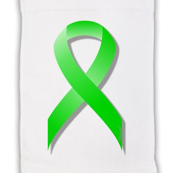 "Lyme Disease Awareness Ribbon - Lime Green Micro Terry Sport Towel 11""x18"