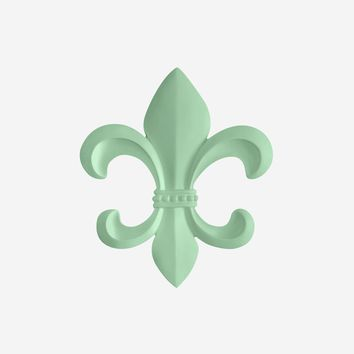 Fleur De Lis | French Inspired Decor | Mint Green Resin