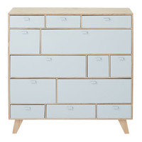 14 Drawer Wooden Chest