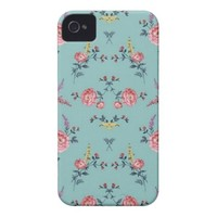 Colorfull Flowers Print iPhone 4 Case