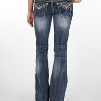 Miss Me Silver Daises Boot Cut Jeans