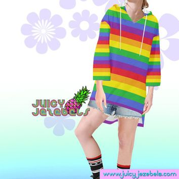 RAINBOW HAZE Rave Wear Oversized Hoodie Oversized Sweater Oversize Hoodie Oversized Jumper Loose Sweater Rave Outfit Festival Clothing