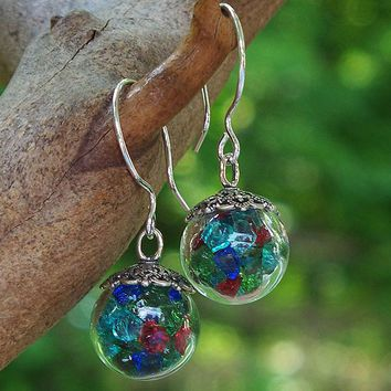 Glass Orb Earrings