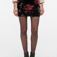 Ecote Printed Velvet Mini Skirt