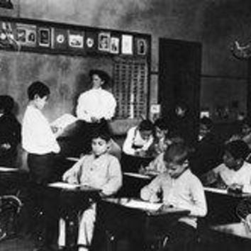 Students and Teacher in Public School Classroom