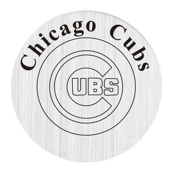 Chicago Cubs Floating Plates Stainless Steel MLB Window Plate Fit 30mm Charm Locket Pendants 10PCS