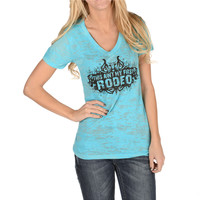 Cowgirl Justice Women's Ain't My First Rodeo Tee