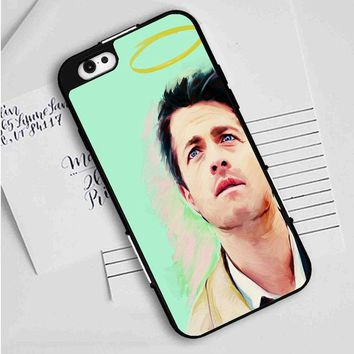 Art Supernatural Castiel Misha Collins iPhone Case