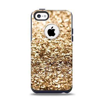 The Gold Glimmer V2 Apple iPhone 5c Otterbox Commuter Case Skin Set