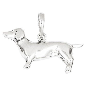 Sterling Silver Dachshund Pendant, Best Quality Free Gift Box Satisfaction Guaranteed