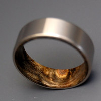 Kore II - Titanium and Wooden Ring